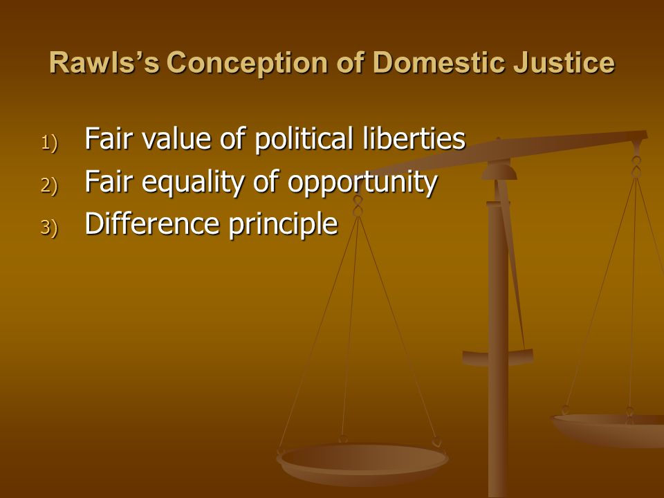 Rawls's Conception of Domestic Justice