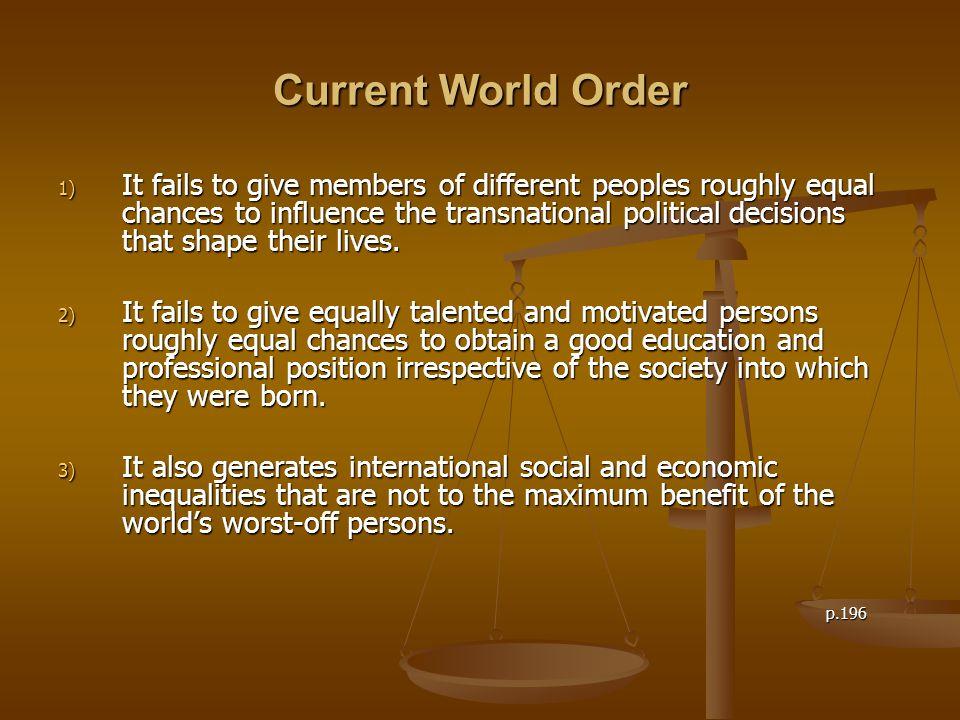Current World Order
