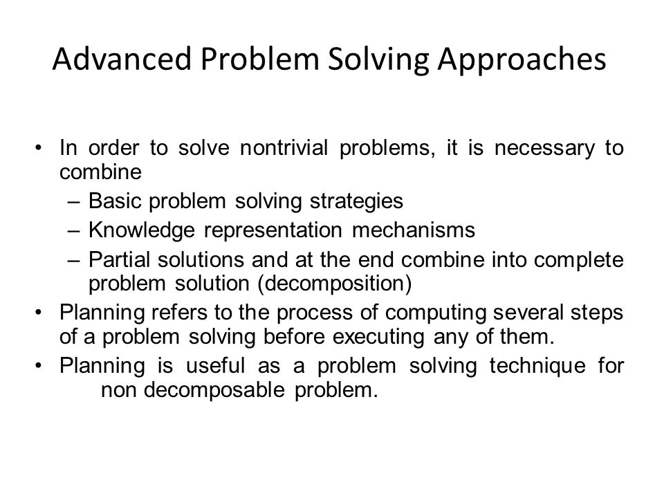 Advanced Problem Solving Approaches