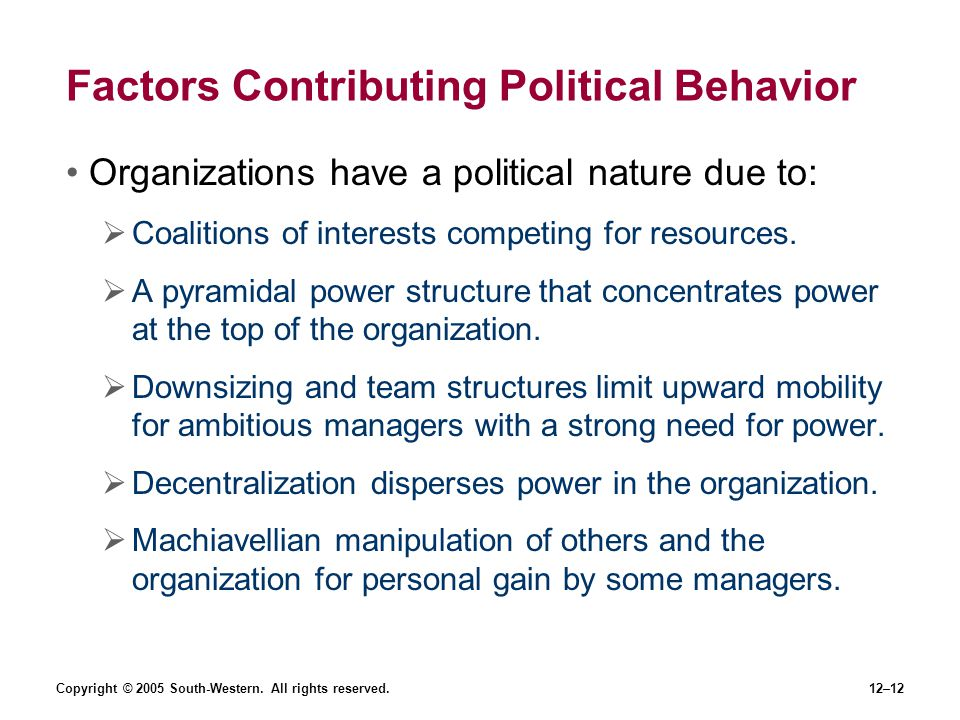Factors Contributing Political Behavior