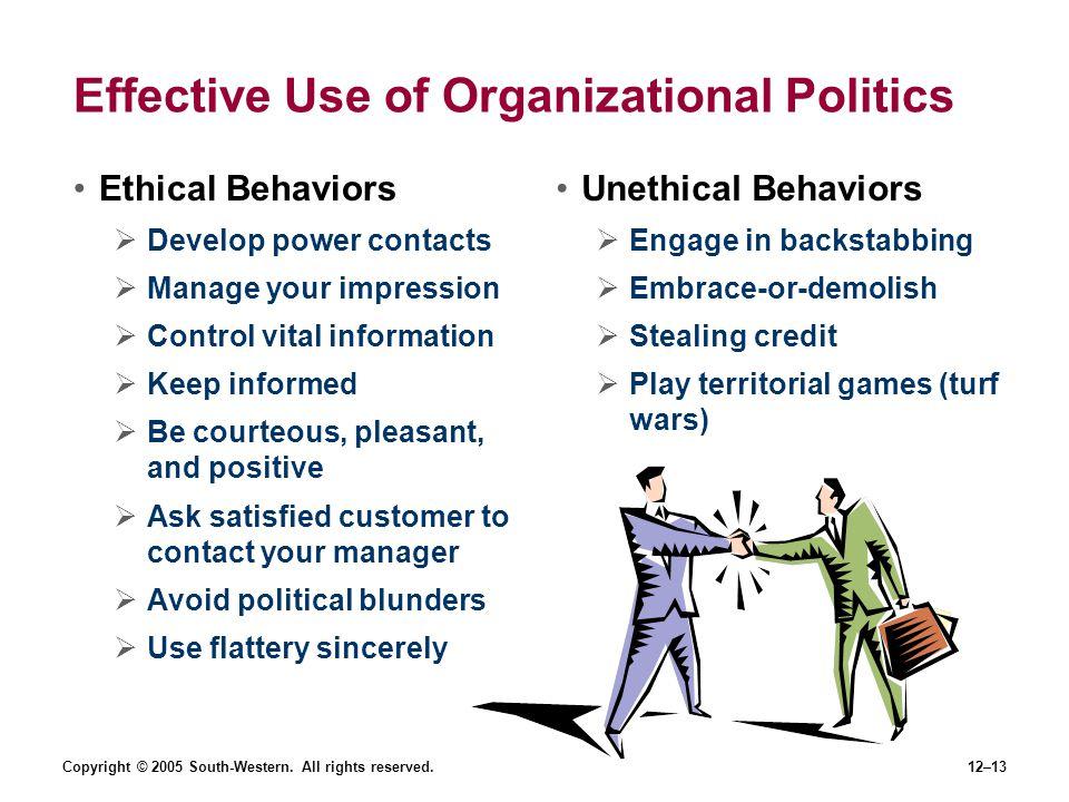 Effective Use of Organizational Politics