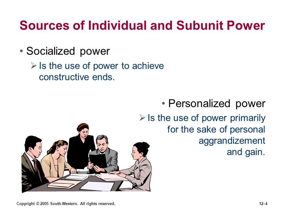 Sources of Individual and Subunit Power