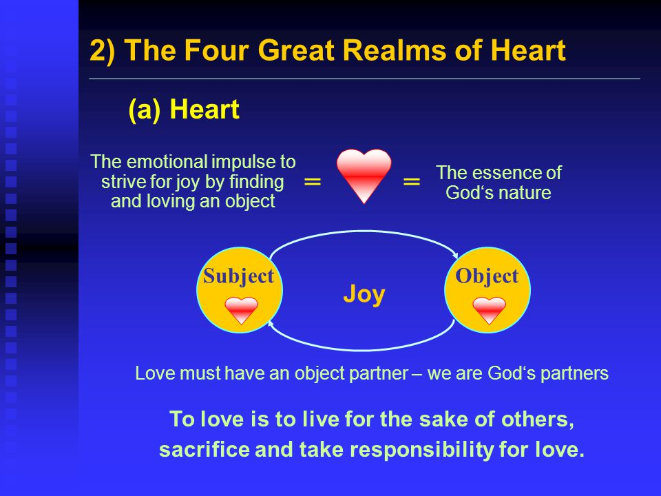 2) The Four Great Realms of Heart