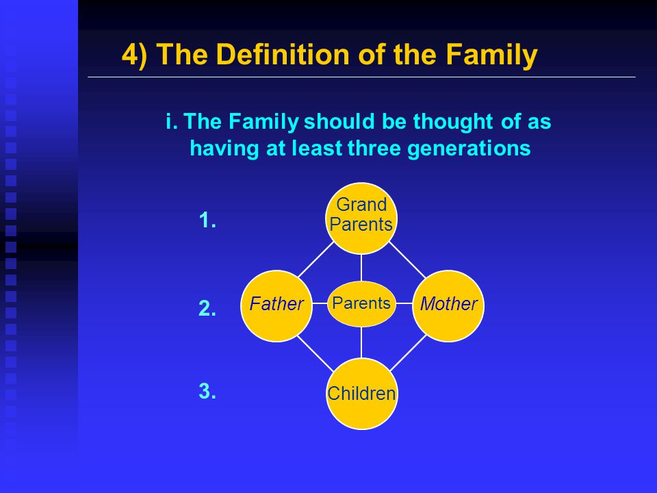 4) The Definition of the Family