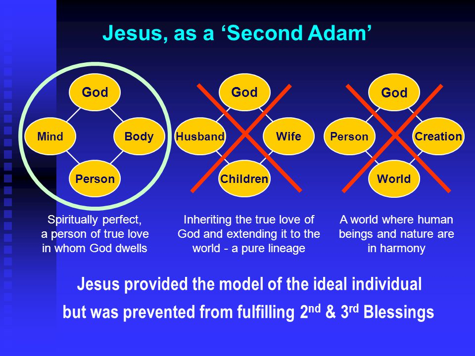 Jesus, as a 'Second Adam'