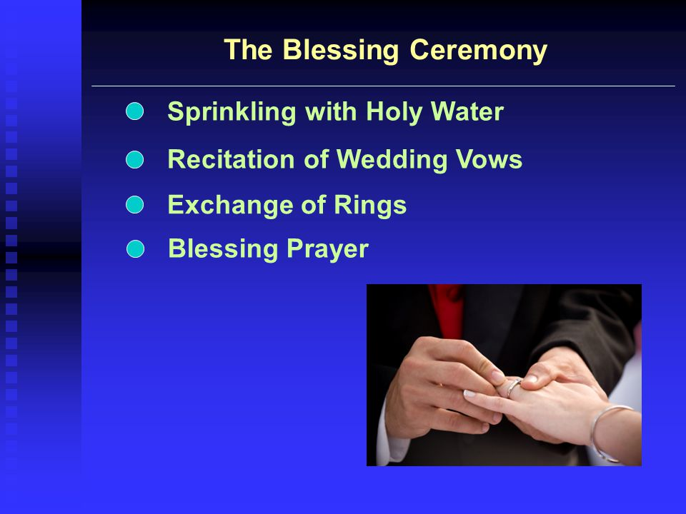 The Blessing Ceremony Sprinkling with Holy Water