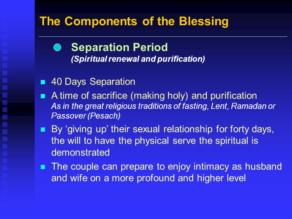 The Components of the Blessing