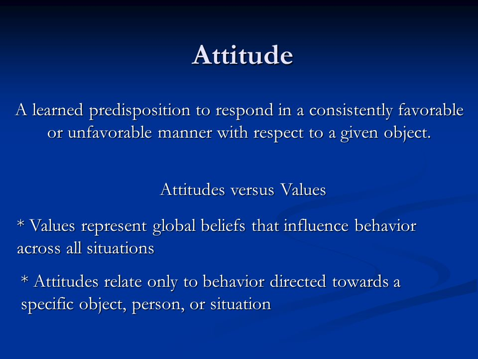 Attitudes versus Values