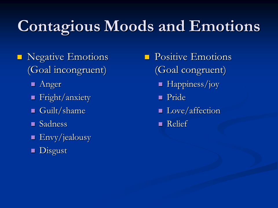 Contagious Moods and Emotions