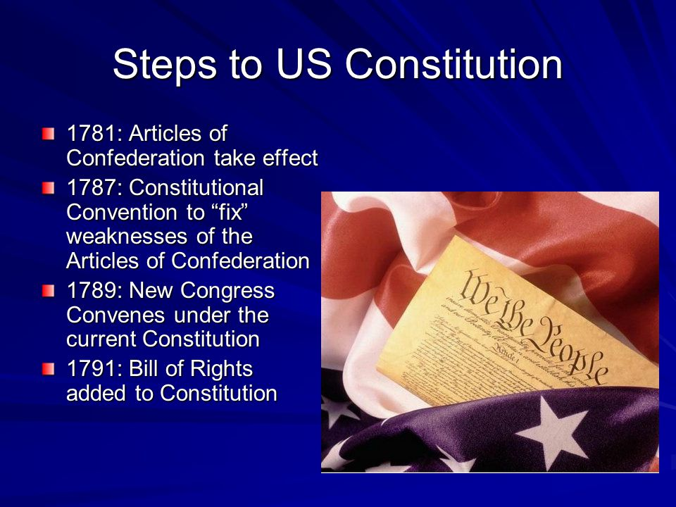 Steps to US Constitution