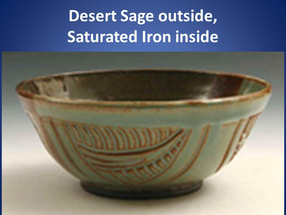 Desert Sage outside, Saturated Iron inside