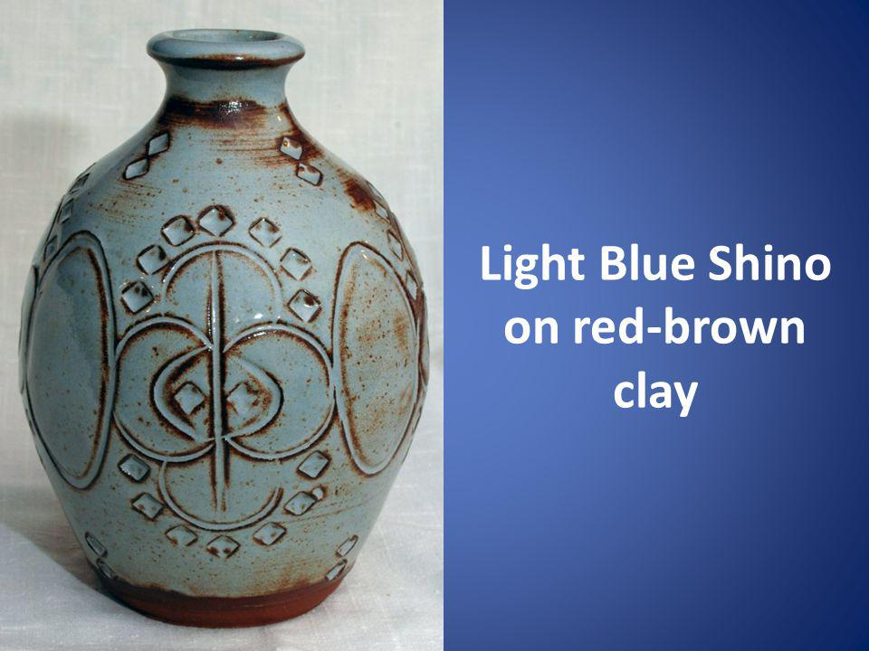 Light Blue Shino on red-brown clay