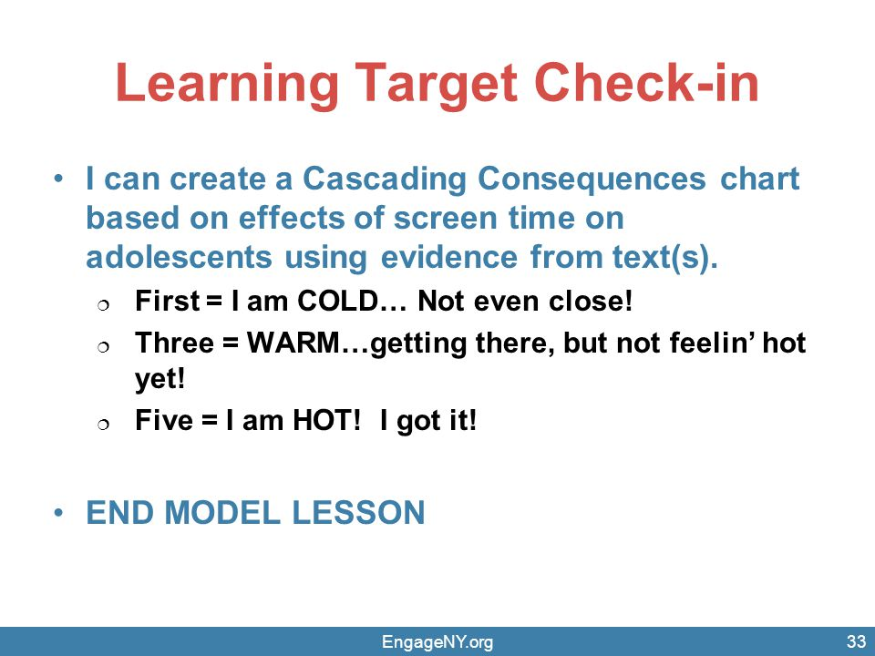 Learning Target Check-in