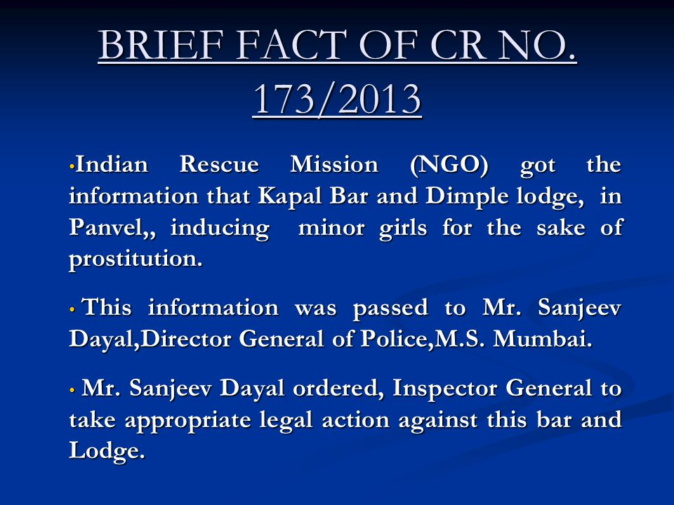 BRIEF FACT OF CR NO. 173/2013
