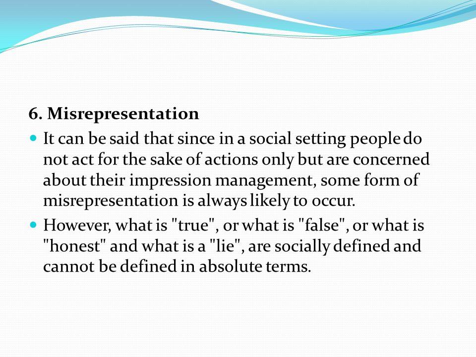 6. Misrepresentation