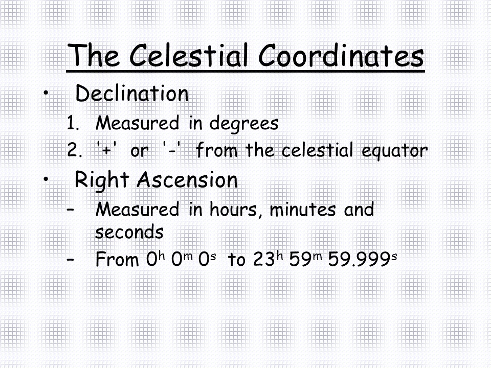 The Celestial Coordinates