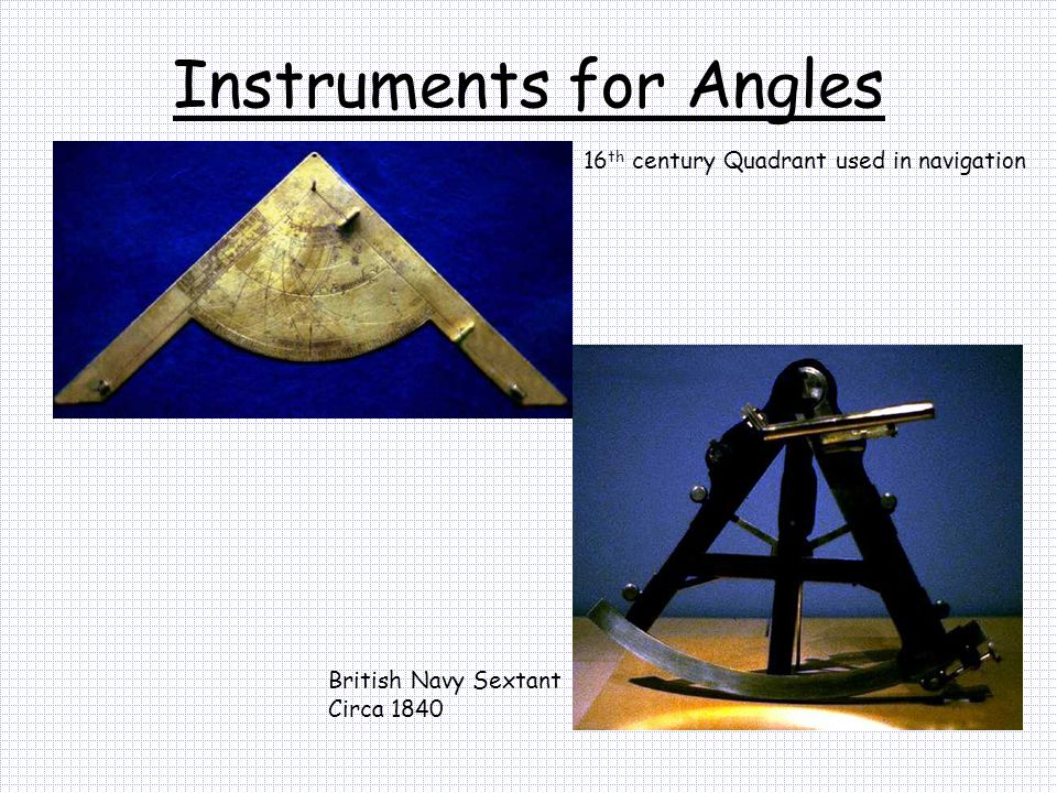 Instruments for Angles