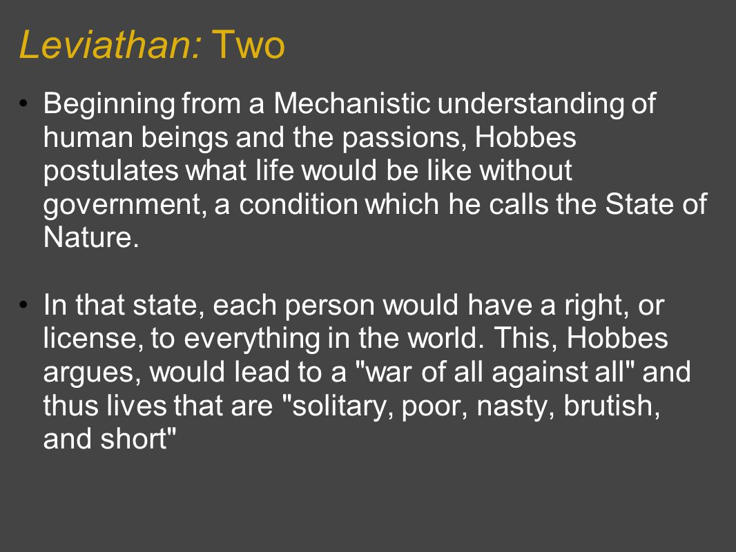 Leviathan: Two