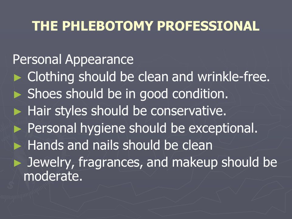 THE PHLEBOTOMY PROFESSIONAL