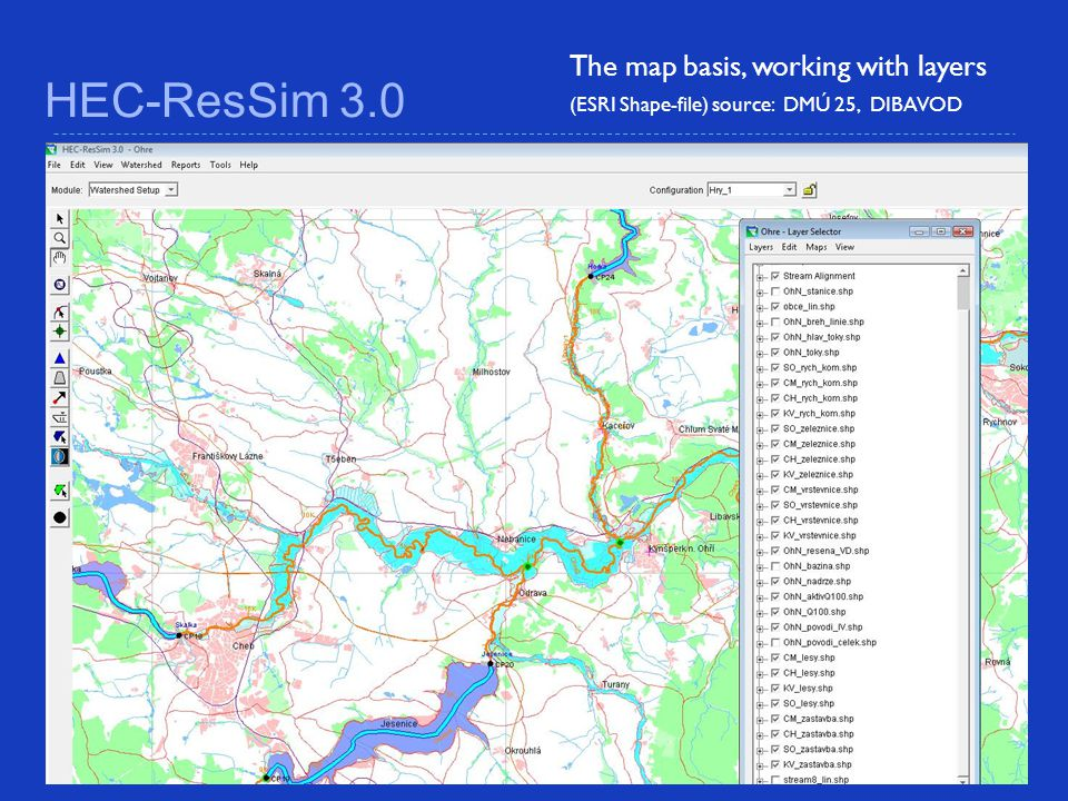 HEC-ResSim 3.0 The map basis, working with layers