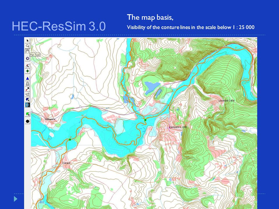 HEC-ResSim 3.0 The map basis,