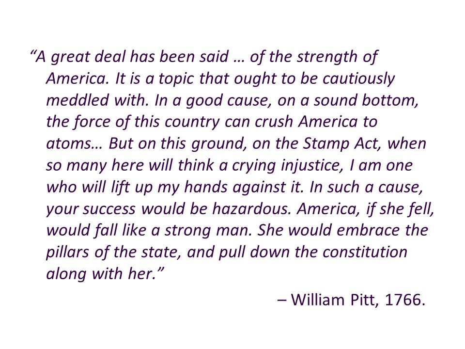 A great deal has been said … of the strength of America