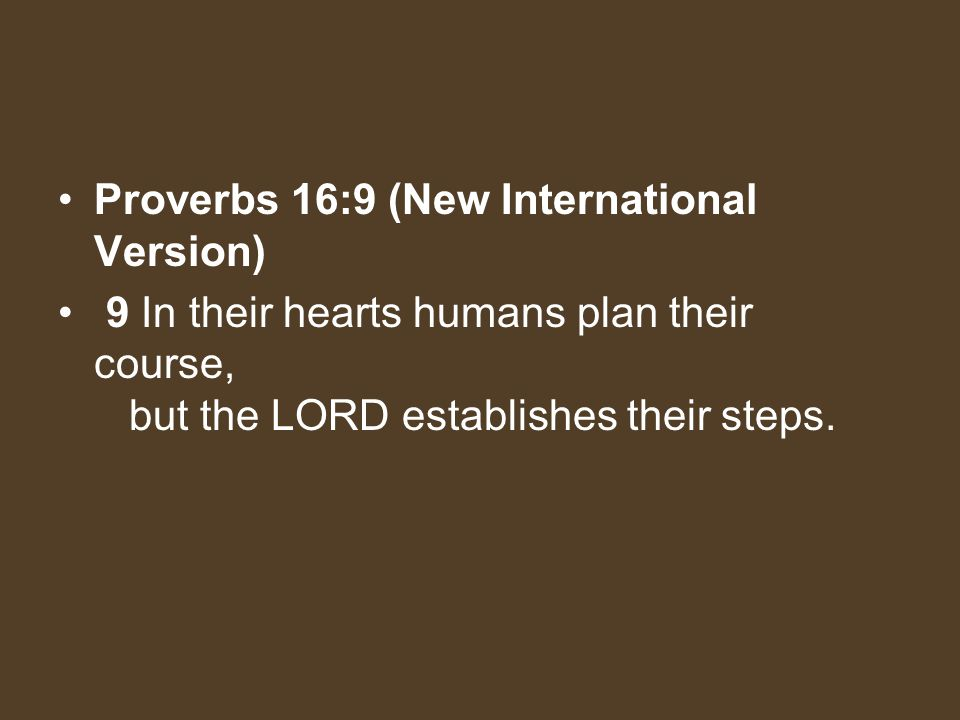 Proverbs 16:9 (New International Version)
