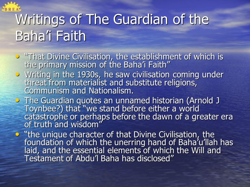 Writings of The Guardian of the Baha'i Faith