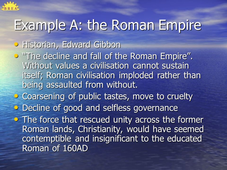 Example A: the Roman Empire