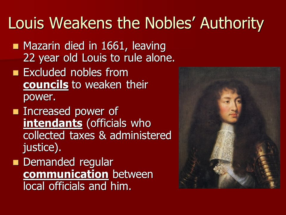 Louis Weakens the Nobles' Authority