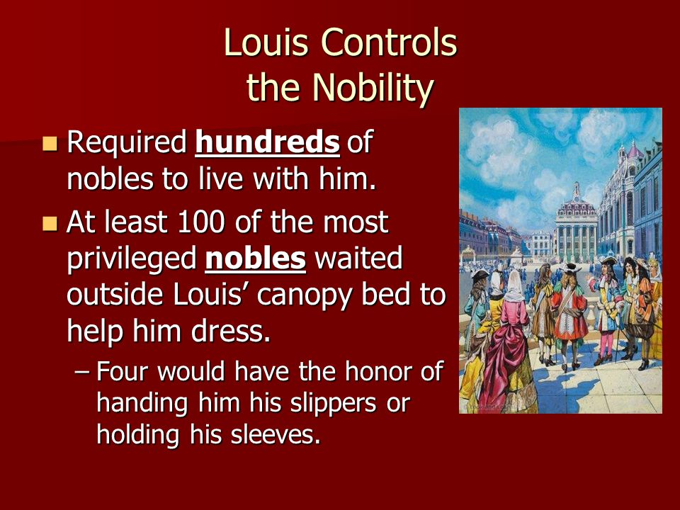 Louis Controls the Nobility