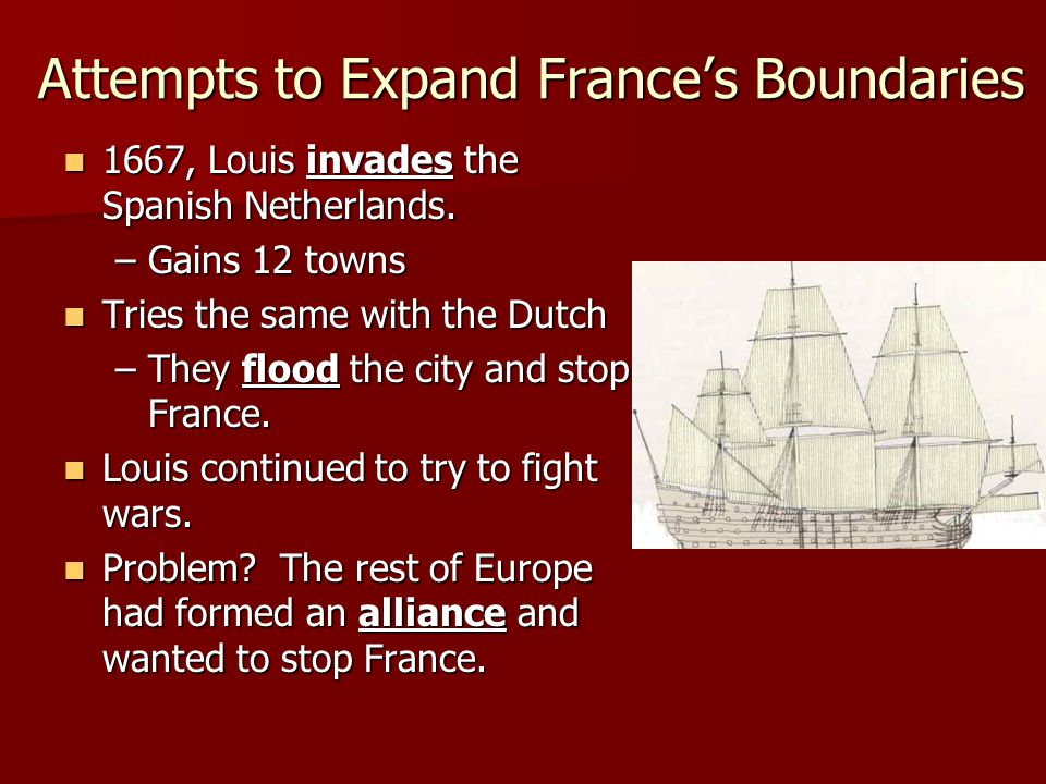 Attempts to Expand France's Boundaries
