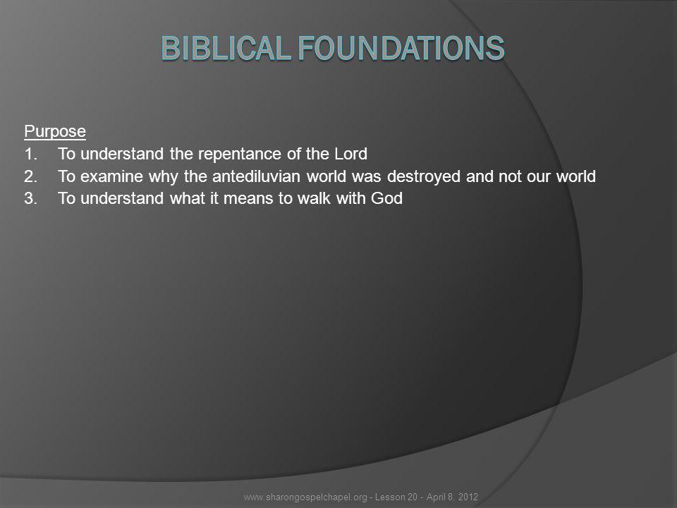 www.sharongospelchapel.org - Lesson 20 - April 8, 2012