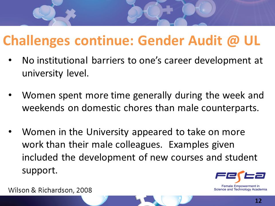 Challenges continue: Gender Audit @ UL