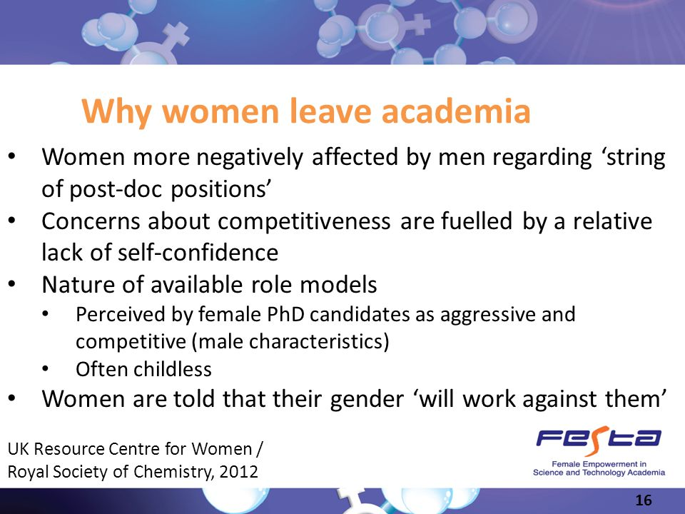 Why women leave academia