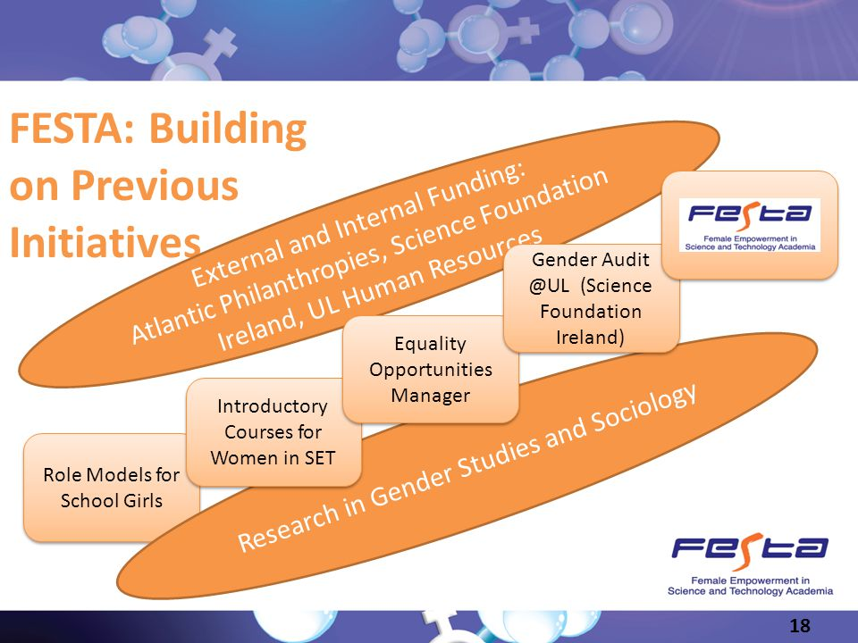 FESTA: Building on Previous Initiatives External and Internal Funding: