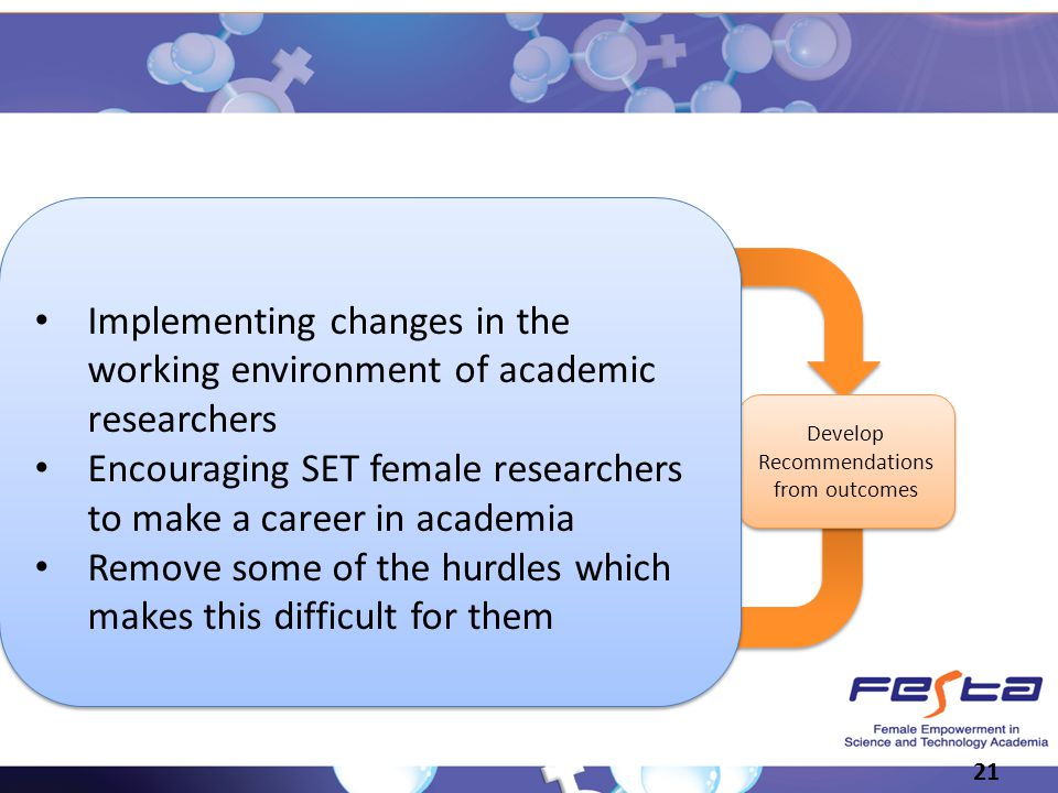 Encouraging SET female researchers to make a career in academia