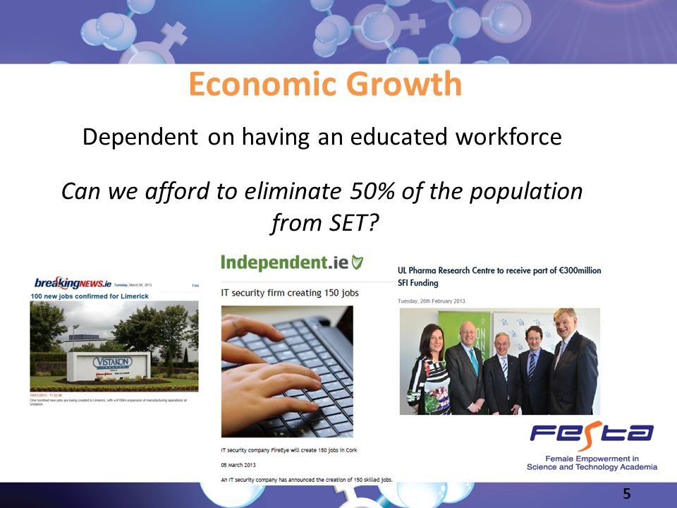 Economic Growth Dependent on having an educated workforce