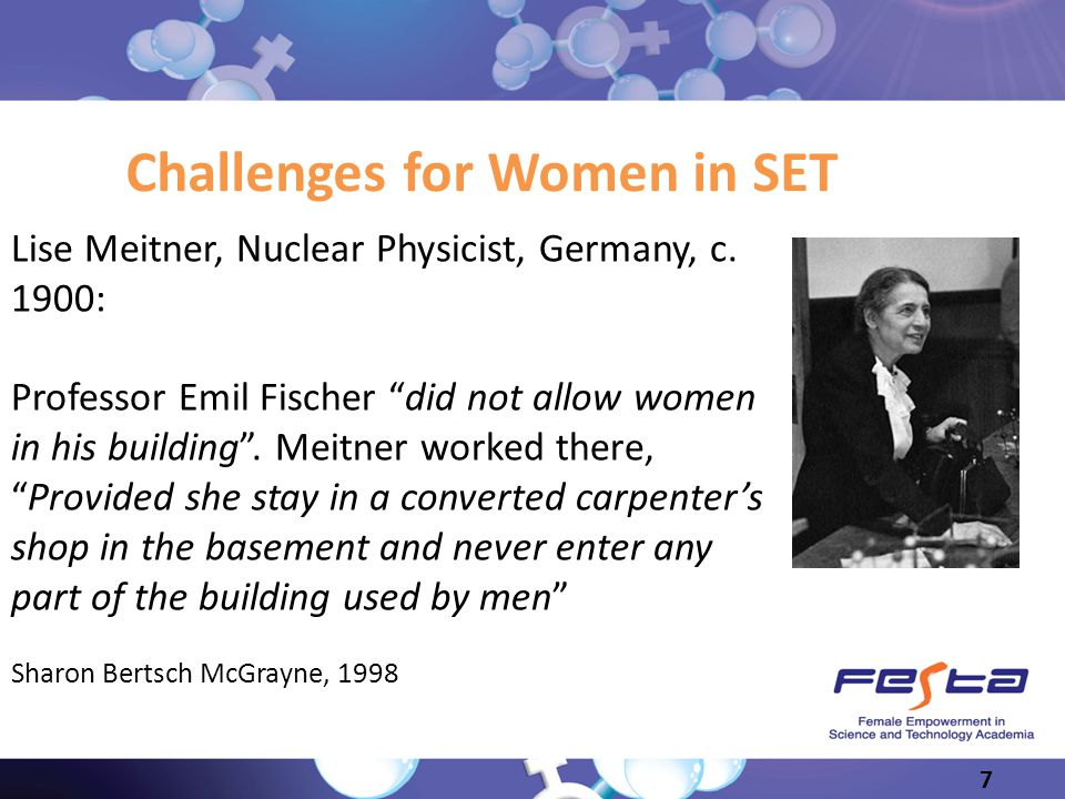 Challenges for Women in SET