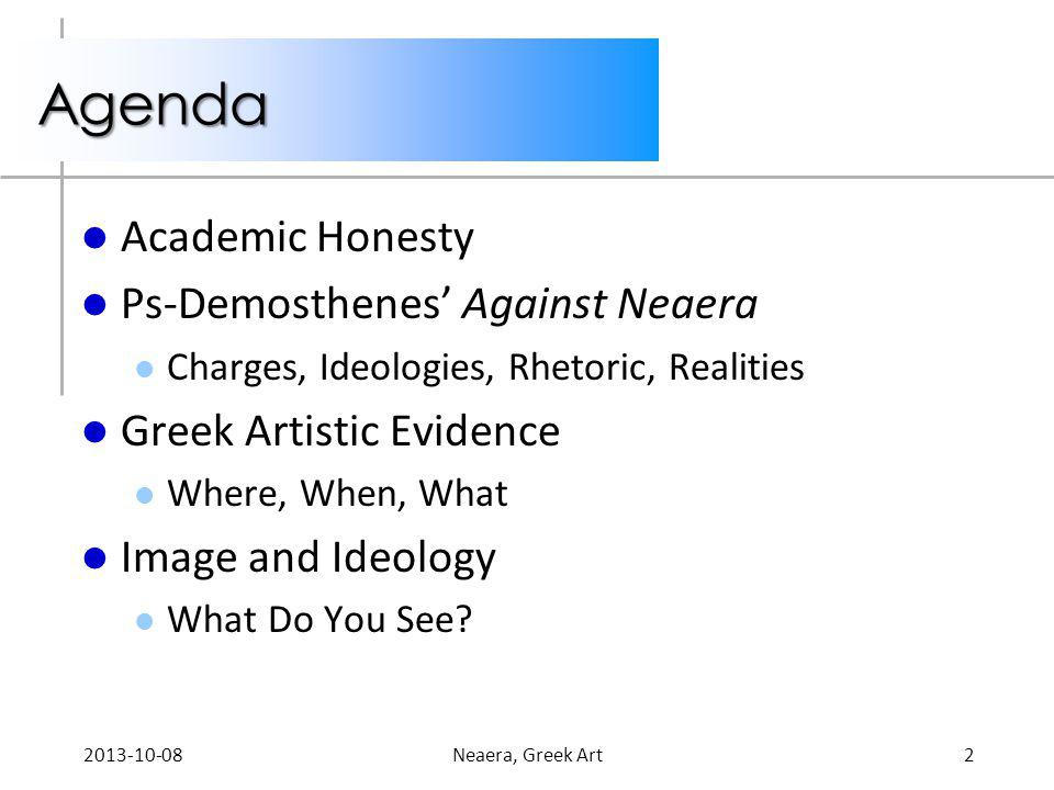 Agenda Academic Honesty Ps-Demosthenes' Against Neaera