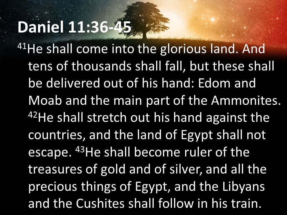 Daniel 11:36-45