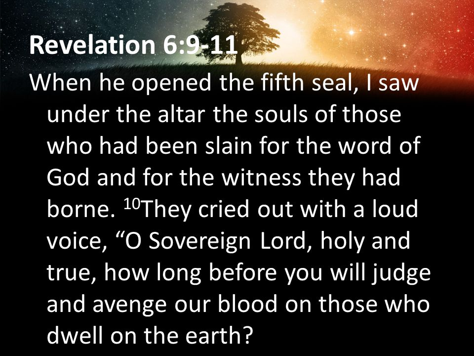 Revelation 6:9-11