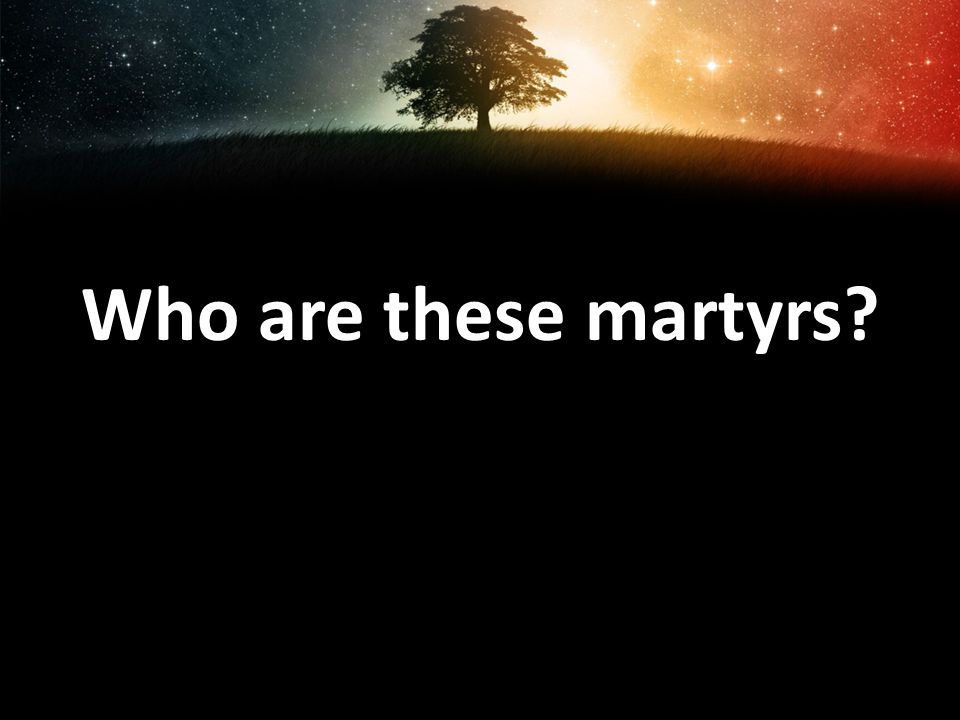 Who are these martyrs