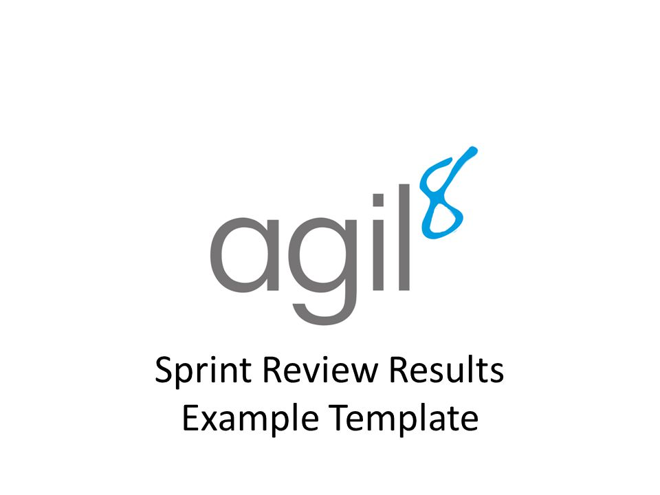 Sprint Review Results Example Template