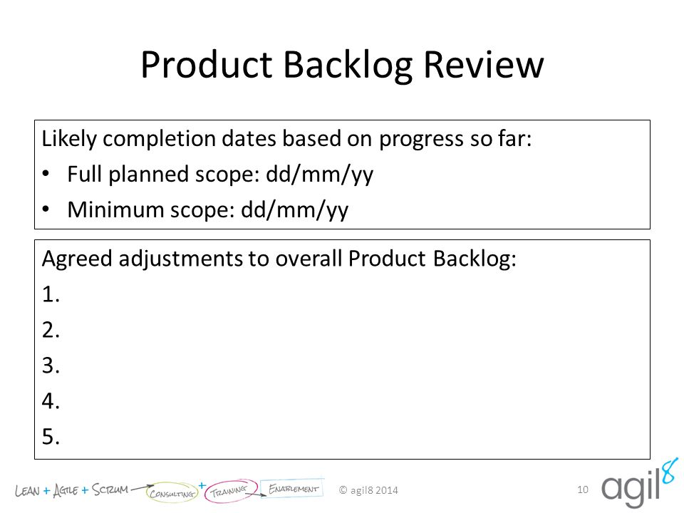 Product Backlog Review