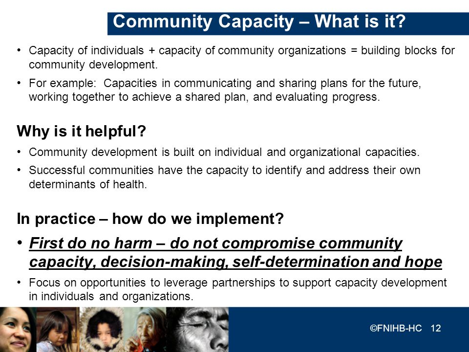 Community Capacity – What is it