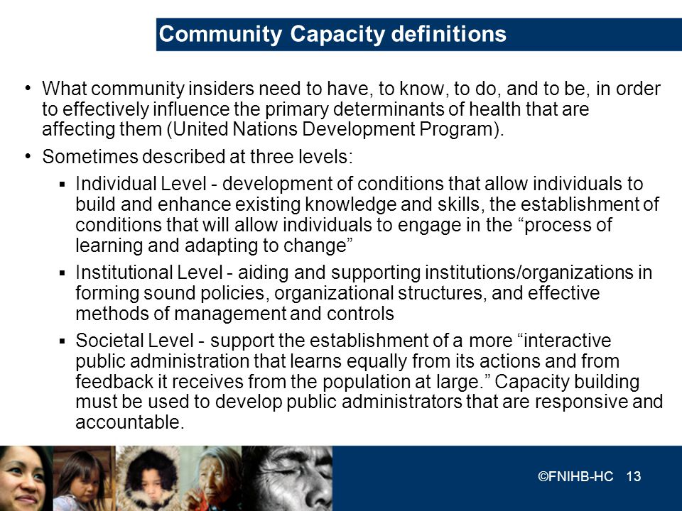 Community Capacity definitions