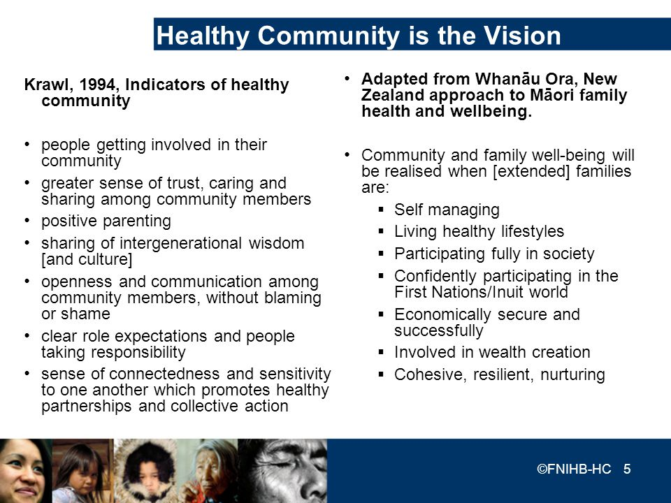 Healthy Community is the Vision