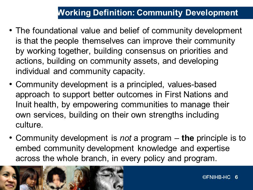 Working Definition: Community Development
