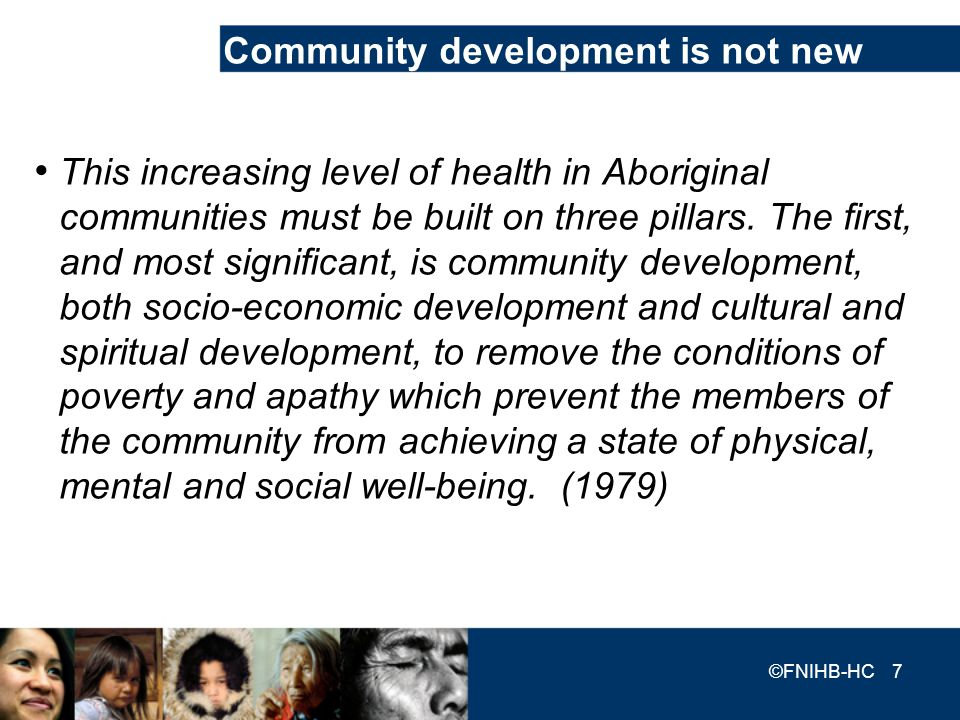 Community development is not new